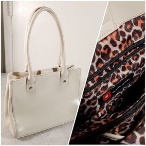 Wilsons Leather Cheetah-Print-Interior Purse Bag